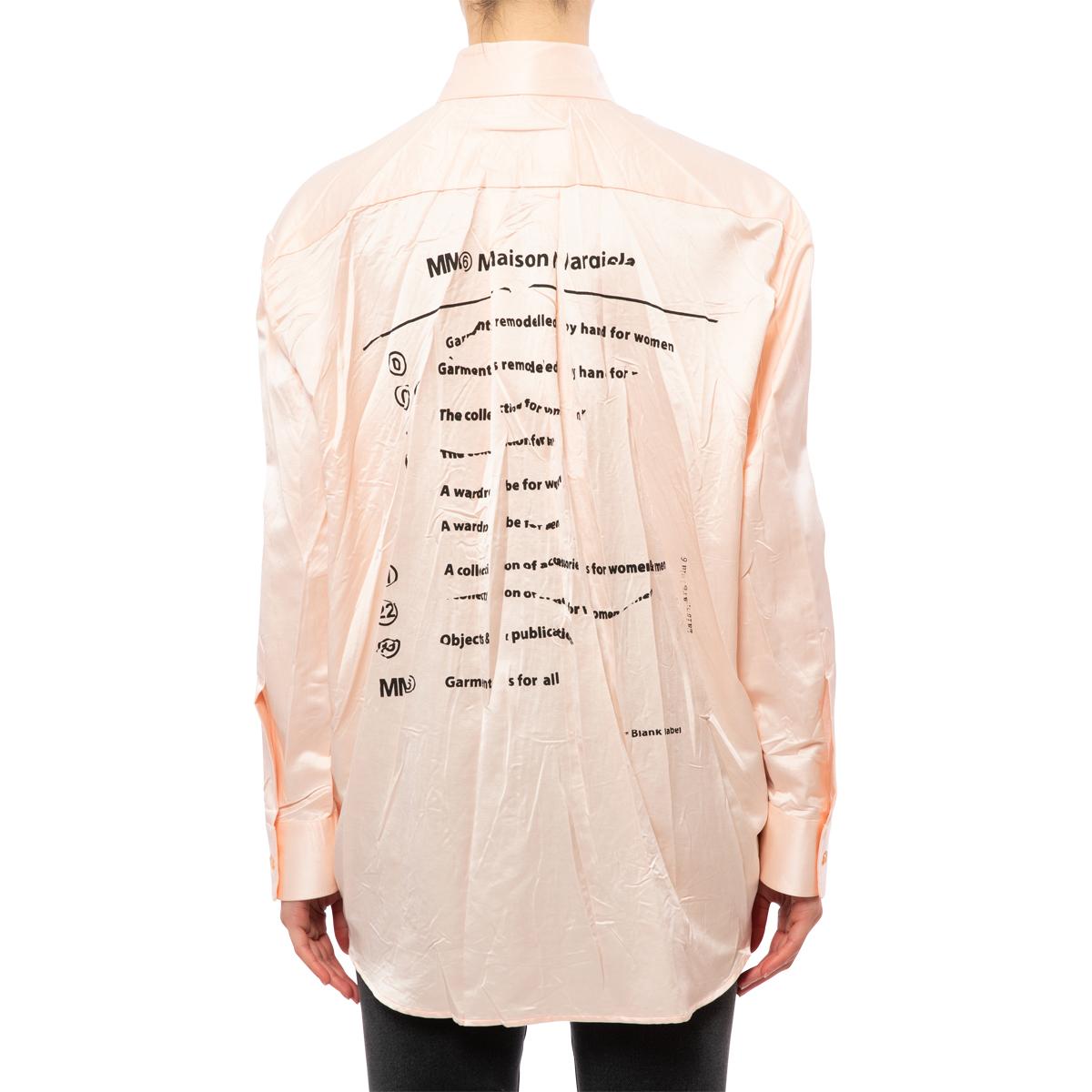 MM6 Maison Margiela Crushed Satin Shirt