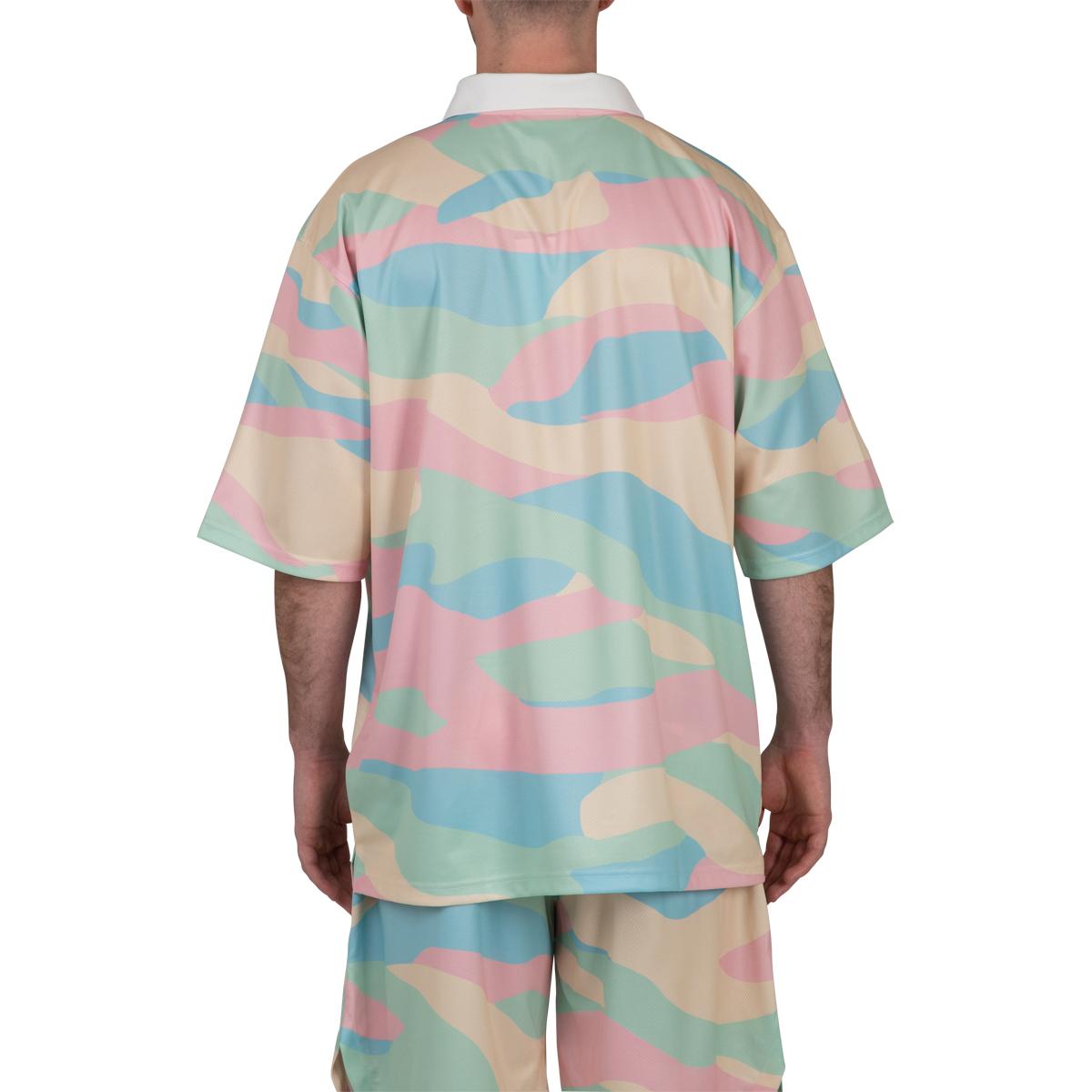 Drôle De Monsieur Mesh 'Ice Cream' Polo Shirt