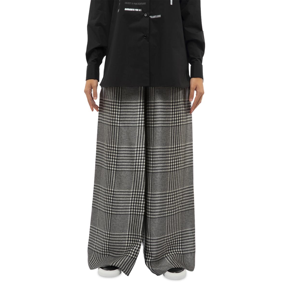 MM6 Maison Margiela Check Wide-Leg Trousers
