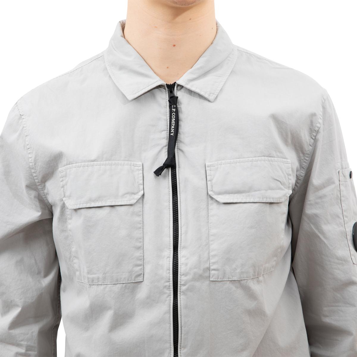 CP Company Garment Dyed Emerized Gabardine Zipped Lens Shirt