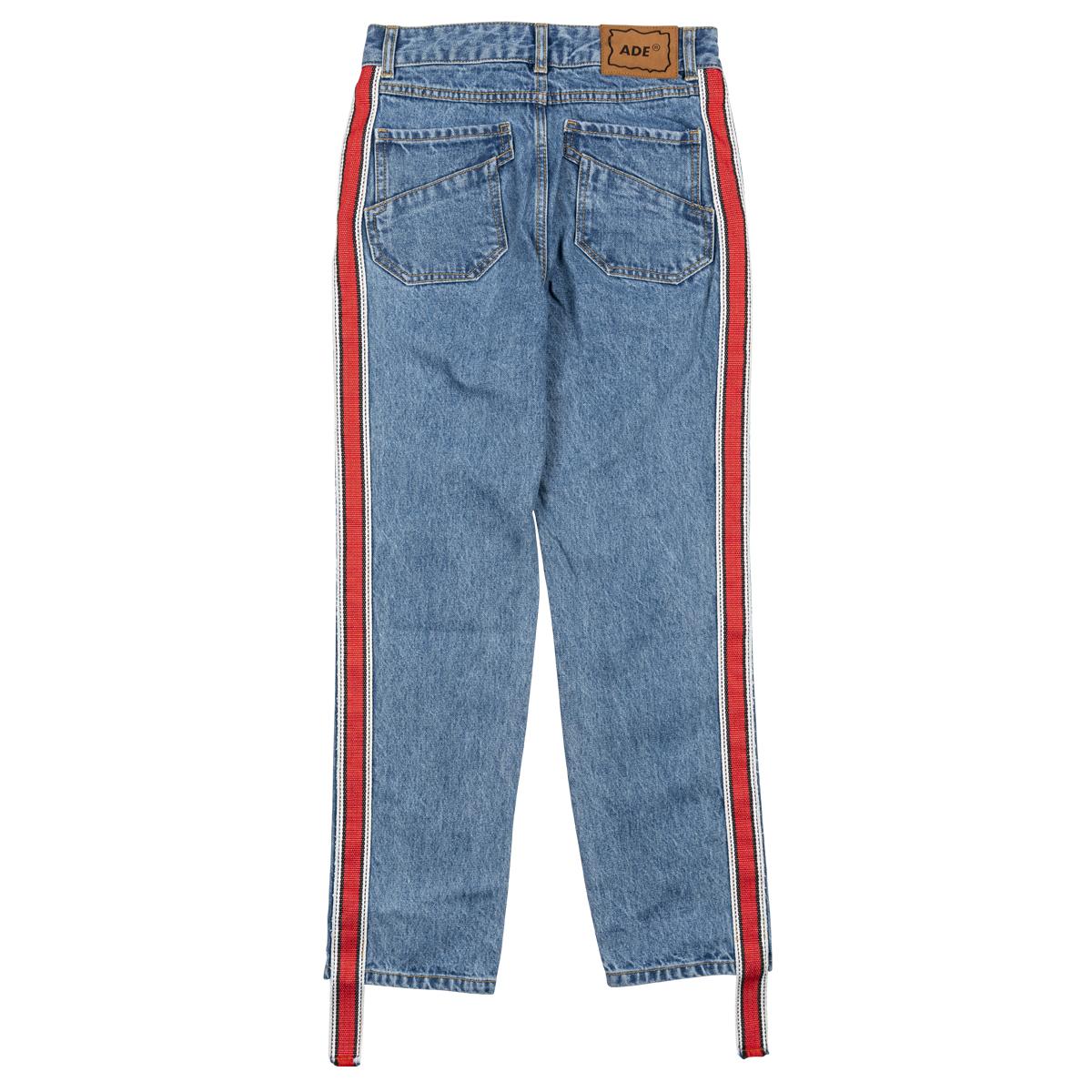 ADER Error Side-Stripe Cropped Jeans