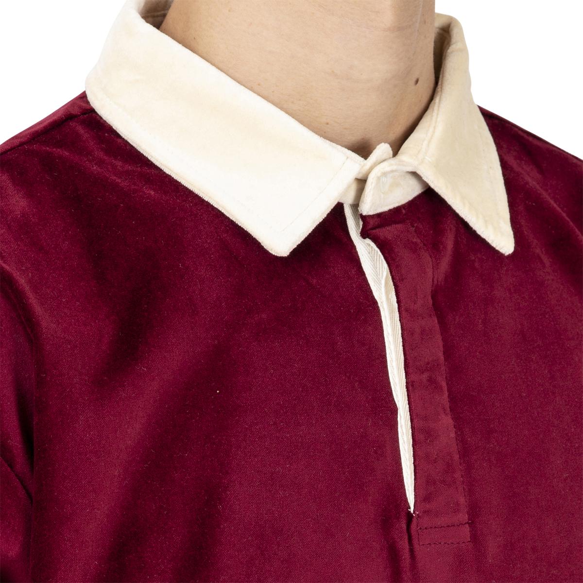 Drôle De Monsieur Velvet Paneled Poloshirt