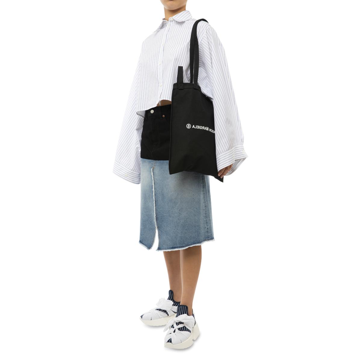 MM6 Maison Margiela 14 Oz Indigo Spliced Denim Skirt