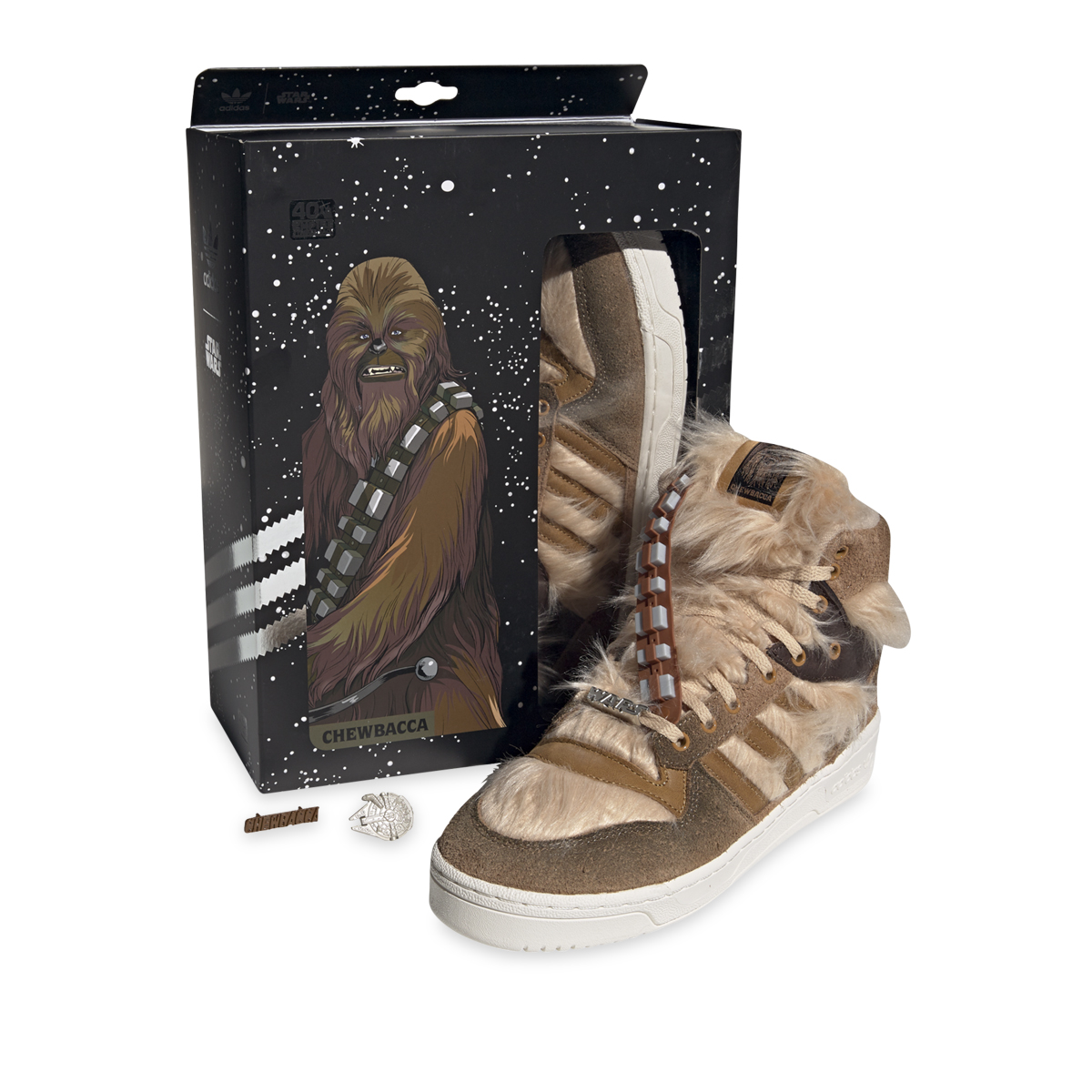 adidas Rivalry Hi Star Wars 'Chewbaca' Raw Desert/Mesa/Chalk White Back Box
