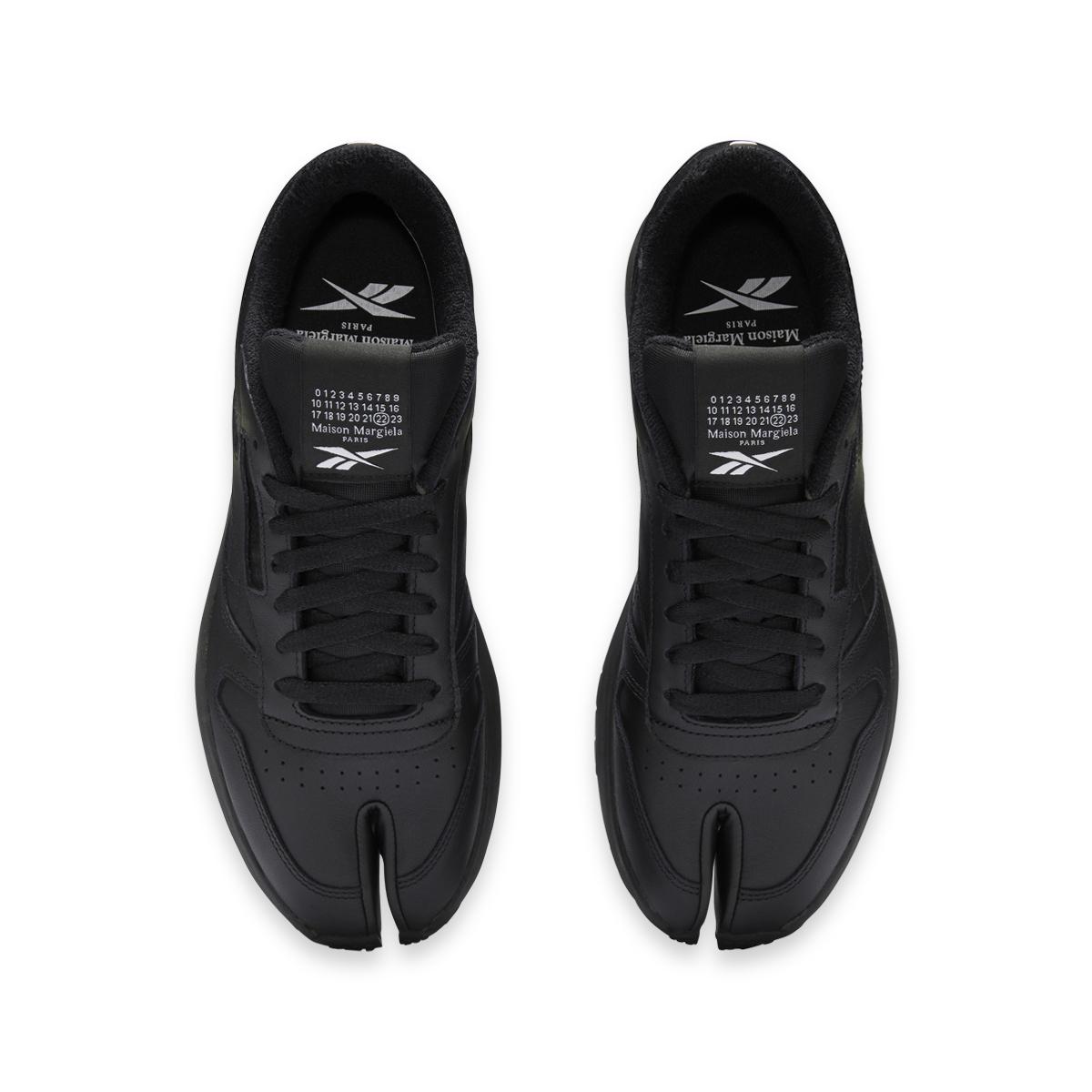 Maison Margiela X Reebok Project 0 CL Classic Leather Tabis Black Top