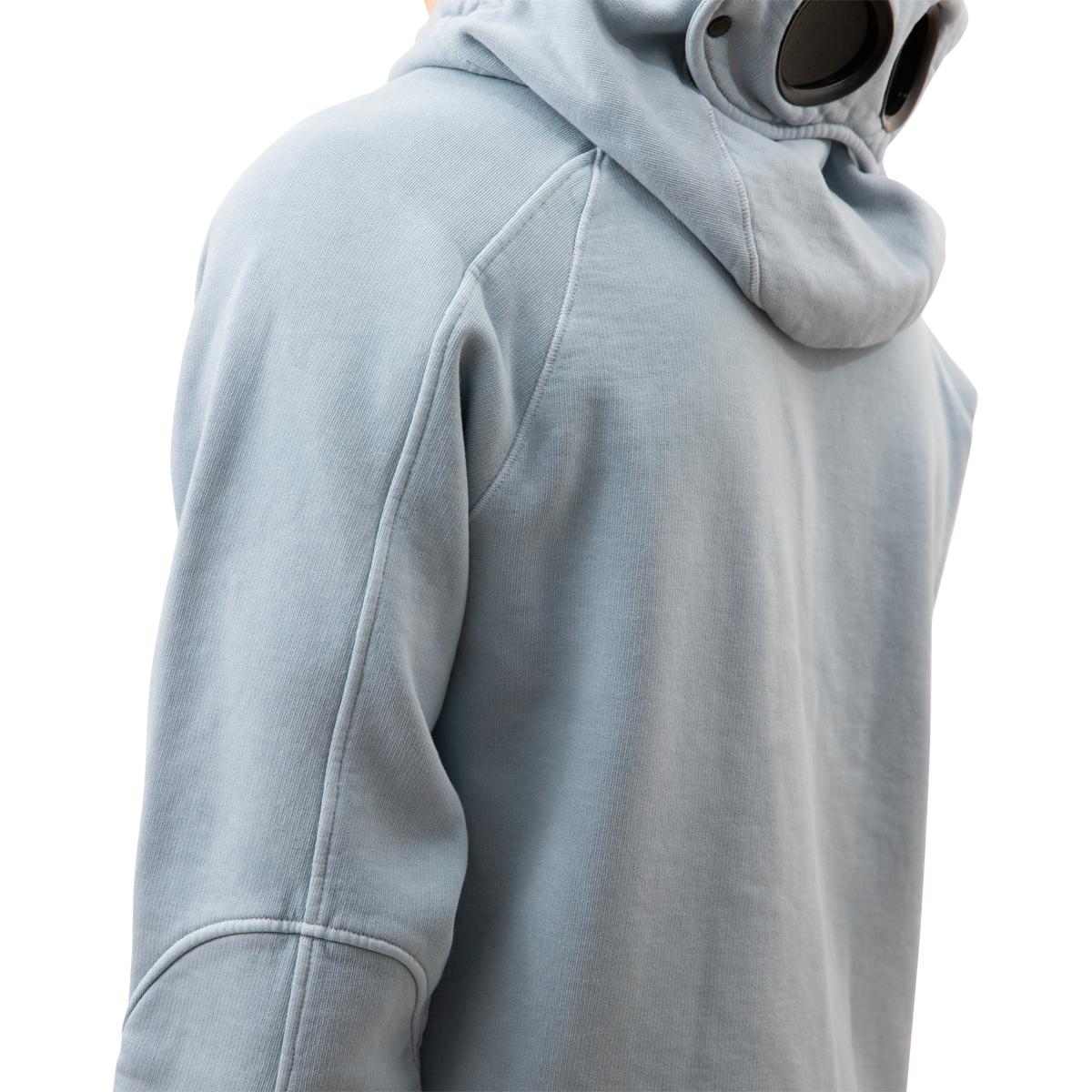 CP Company Hand Fleece Logo Lens Hoodie