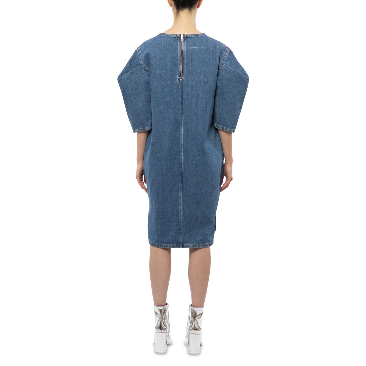 MM6 Maison Margiela Indigo Denim Washed Dress