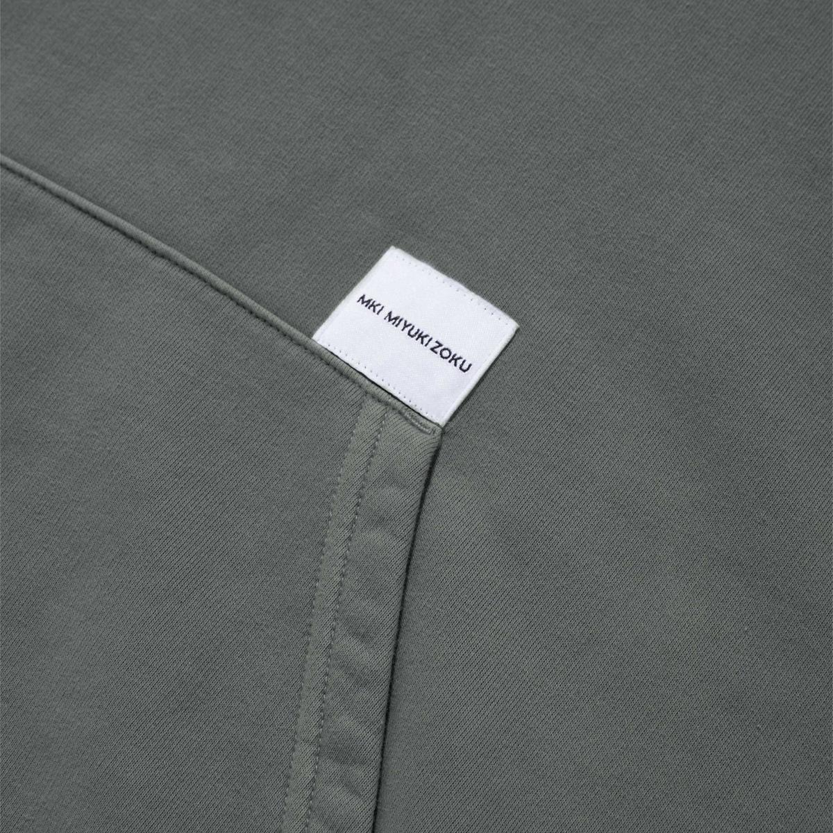 MKI Pigment Dyed Hoody Grey Detail