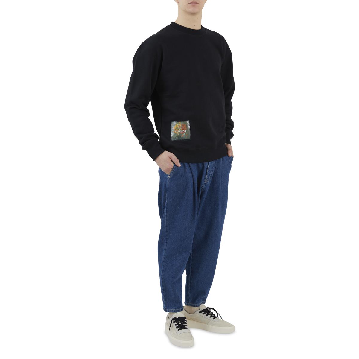 soulland Stilleben Square Sweatshirt Black Full Body