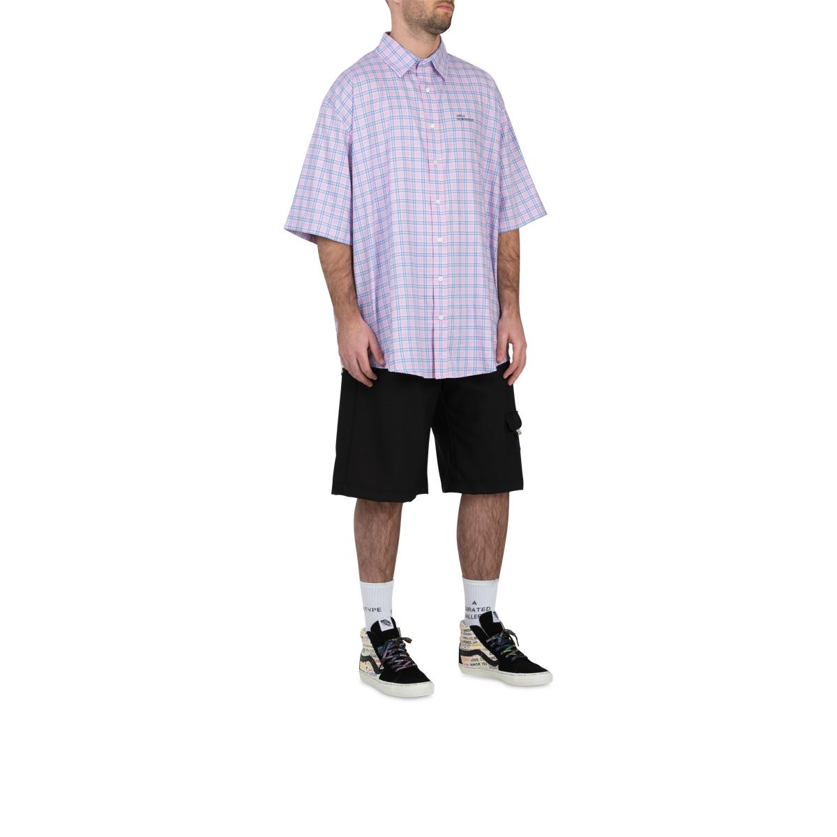 Drôle De Monsieur Check Oversized Shirt